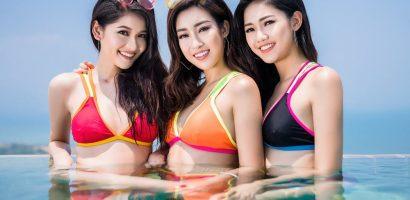 Đỗ Mỹ Linh, Thanh Tú và Thùy Dung cùng thả dáng gợi cảm với bikini