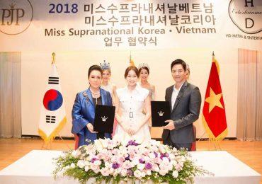 Hoa hậu Hải Dương ký kết tổ chức 3 cuộc thi nhan sắc lớn tại Hàn Quốc