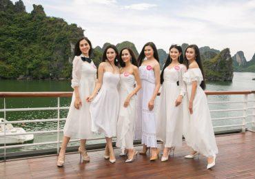Thí sinh Hoa hậu Việt Nam 2018 khoe sắc rạng ngời giữa trời Hạ Long