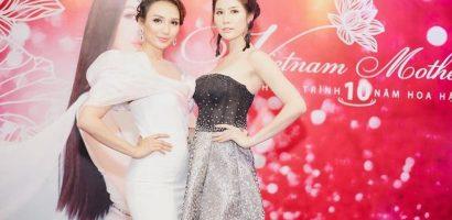 Á hậu Hoàng Hạnh diện gợi cảm đến chúc mừng Hoa hậu Ngọc Diễm
