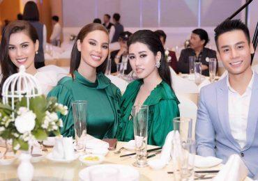 Hoa khôi Emily Hồng Nhung rạng rỡ bên Hoa hậu Catriona và Nam vương Cao Xuân Tài