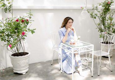 Lý Nhã Kỳ lãng mạn giữa vườn hồng ở giữa lòng Sài Gòn