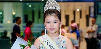 Tân 'Hoa hậu nhí Châu Á Thái Bình Dương' Trang Anh vỡ òa hạnh phúc ngày trở về