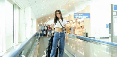 Siêu mẫu Minh Tú khoe vòng eo 'con kiến' tại Thái Lan