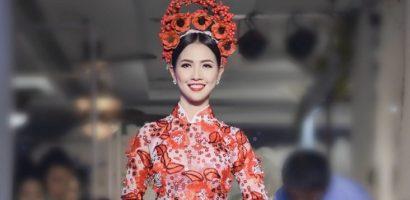 Hoa hậu Phan Thị Mơ lộng lẫy kiêu sa trong tà áo dài độc đáo của NTK Minh Châu