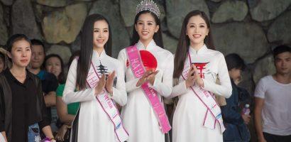 Top 3 Hoa hậu Việt Nam 2018 đọ sắc với áo dài họa tiết Nhật Bản