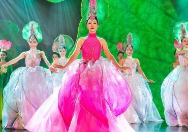 Linh Nga hóa 'nàng sen', quảng bá vẻ đẹp Việt trước bạn bè quốc tế