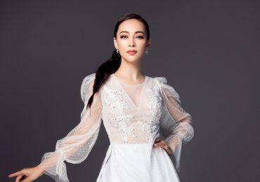 'Hoa Hậu Bolero' Trần Mỹ Ngọc lạ lẫm và thu hút với áo dài mang âm hưởng dạ hội