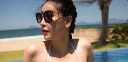Hà Kiều Anh mặc bikini một mảnh tôn vóc dáng khỏe đẹp