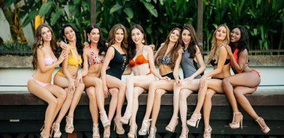 Á hậu Phương Nga và các người đẹp Hoa hậu Hòa bình chụp ảnh áo tắm