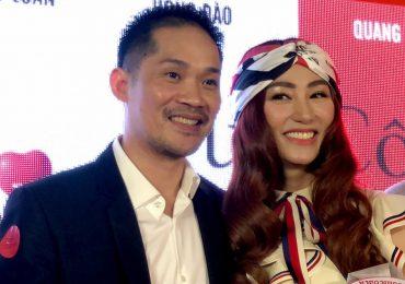 Diễn viên Ngân Khánh được chồng tháp tùng tại sự kiện