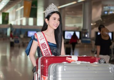 Huỳnh Vy đội vương miện 'Miss Tourism Queen Worldwide 2018' rạng rỡ về nước