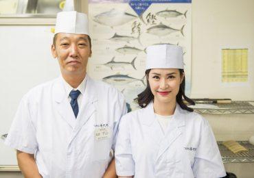Đông Nhi học gói sushi ở Tokyo