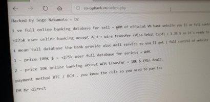 Website ngân hàng HTX Việt Nam bị hack, khách hàng cần làm gì?