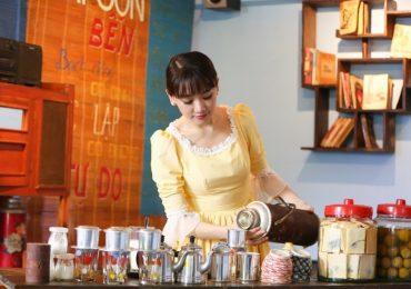 Hari Won trở thành cô gái bán cafe xinh đẹp với phong cách retro