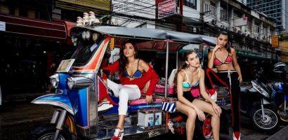 Minh Tú gây bất ngờ khi mặc bikini đi chợ tại Thái Lan