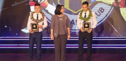 Quang Hải, Văn Quyết tranh thủ đi nhận giải trước khi sang Hàn Quốc