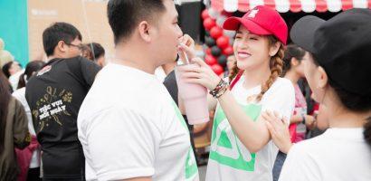 Puka 'tiếp nước', cổ vũ nhiệt tình cho bạn trai Diệp Tiên chạy bộ vì cộng đồng