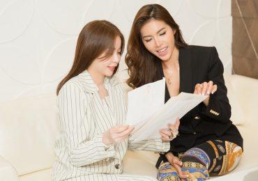 Minh Tú cùng Hoa hậu Hải Dương bàn chiến lược chinh phục vương miện HH Siêu quốc gia 2018