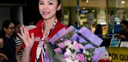 Hoa hậu Hoàn vũ Riyo Mori rạng rỡ khi trở lại Tp.HCM