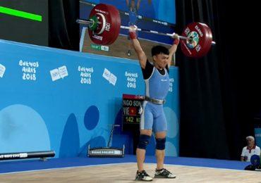 Ngô Sơn Đỉnh đoạt HC vàng cử tạ ở Olympic trẻ 2018