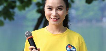 Họa sĩ – diễn viên Lương Giang rạng rỡ làm MC ngày hội Mottainai 2018