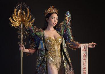Huỳnh Vy mang hình ảnh cây lúc đầu sáng tạo đến Miss Toutism Queen Worldwide 2018