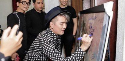 Mr. Đàm, Lệ Quyên bị chỉ trích vì ký tên lên tranh hoạ sĩ nổi tiếng