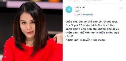Mất trang cá nhân, Nam Thư bị hacker tống tiền 20 triệu