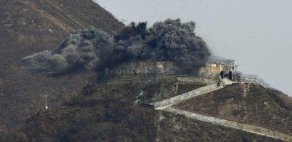 Hàn Quốc cho nổ tung trạm gác gần biên giới với Triều Tiên