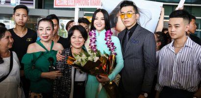 Hoa hậu Trái đất 2018 Phương Khánh không đội vương miện ngày trở về