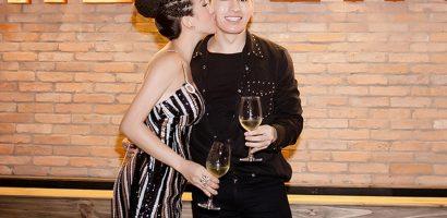 Hoa hậu Thu Hoài thoải mái ôm, hôn Quốc Thiên trước mặt bạn trai doanh nhân