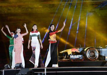 NTK Đỗ Trịnh Hoài Nam mang áo dài xuất hiện bên xe F1 'hầm hố'