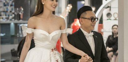 Hồ Ngọc Hà tái xuất sàn diễn, làm 'nàng thơ' cho NTK Nguyễn Công Trí