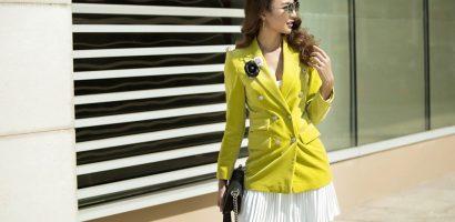 Hoa hậu Ngọc Diễm khoe phong cách thời trang sang trọng, sành điệu