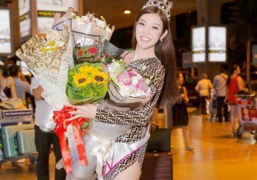 Bùi Lý Thiên Hương rạng rỡ về nước sau đăng quang 'Miss Vietnam Worldwide 2018'