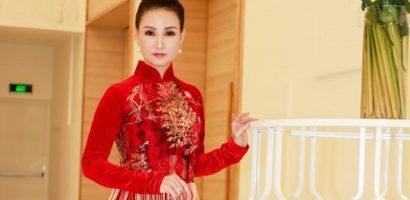 Hoa hậu Sương Đặng rạng rỡ trong áo dài của NTK Nhật Dũng