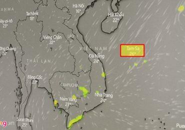Bản đồ báo bão gọi quần đảo Hoàng Sa là Tam Sa khiến dư luận phẫn nộ