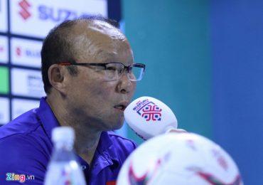 AFF Cup 2018: HLV Park Hang-seo cảm ơn học trò sau trận thắng Philippines