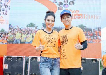 Hoa hậu Dy Khả Hân chạy bộ gây quỹ cho trẻ em hở hàm ếch