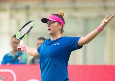 'Bông hồng lai' của tennis Việt bất đồng ngôn ngữ với trọng tài