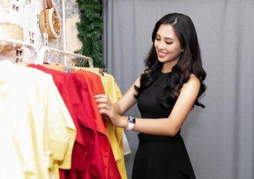 Hoa hậu Tiểu Vy khoe nhan sắc 'vạn người mê' khi đi thử đồ cho Asian Kids Fashion Week 2019