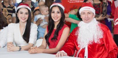 Hoa hậu Tiểu Vy hoá thân thành 'Công chúa Noel' đi phát quà giáng sinh