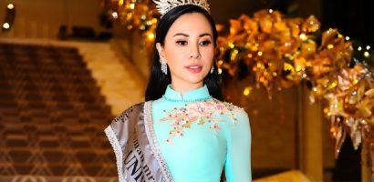 Hoa hậu Châu Ngọc Bích chọn trang phục truyền thống, dự sự kiện sau đăng quang