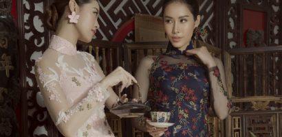 Chị em Thúy Kiều – Thúy Vân trở thành cảm hứng bất tận để Đức Vincie thiết kế áo dài