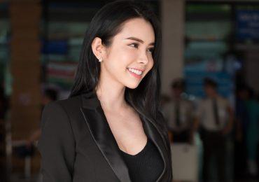 Huỳnh Vy diện cây đen cá tính, hào hứng trước show diễn AMI Fashion show 2018