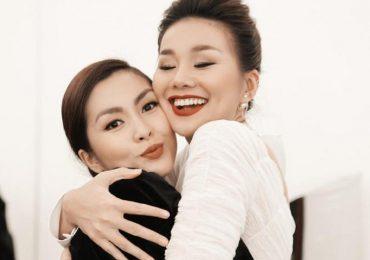Thanh Hằng ôm chặt, chúc mừng Tăng Thanh Hà trong hậu trường