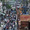 Cuối năm, lô cốt lại mọc lên khắp đường Sài Gòn