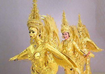 Trang phục dân tộc của người đẹp Lào ở Miss Universe gây xôn xao