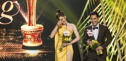 Thuý Ngân khóc nức nở khi được vinh danh tại giải 'Mai Vàng'